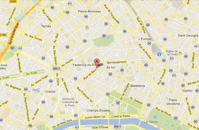 ... rue de Berri - 75008 Paris - 01 42 89 04